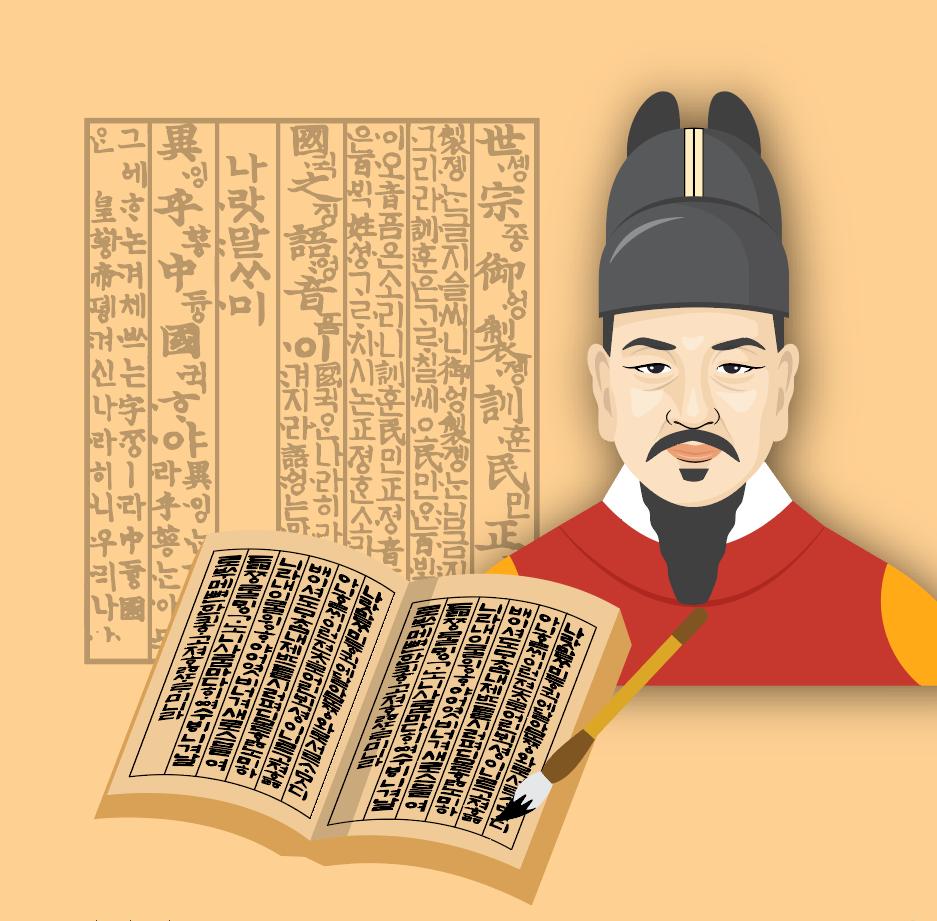 Vua Sejong và bảng chữ cái Hangul